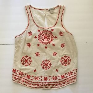 Lucky Brand embroidered Tank top. size L